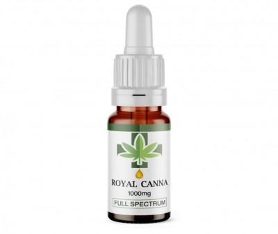 1000Mg Full Spectrum CBD Oil. 10ml. RoyalCanna.