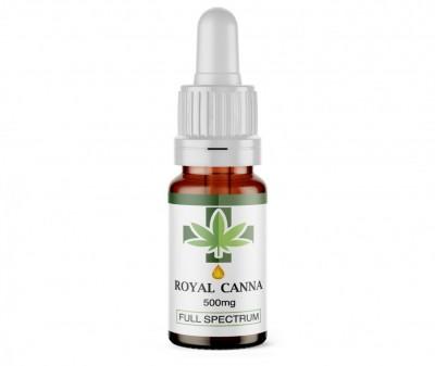500Mg Full Spectrum CBD Oil. 10ml. RoyalCanna.